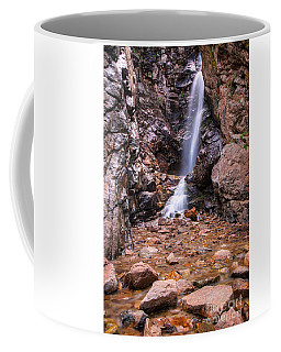 Coffee Mug featuring the photograph Rocky Mouth Waterfall by Spencer Baugh