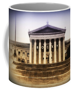 Rocky On The Art Museum Steps Coffee Mug by Bill Cannon