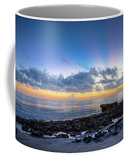 Coffee Mug featuring the photograph Rocky Reef At Low Tide by Debra and Dave Vanderlaan
