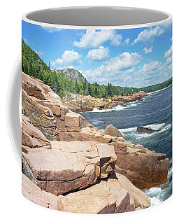 Rocky Summer Seascape Acadia National Park Photograph Coffee Mug