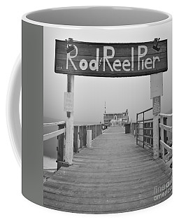 Rod And Reel Pier In Fog In Infrared 53 Coffee Mug