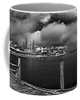 Rod And Reel Pier In Infrared Coffee Mug
