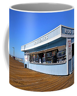 Coffee Mug featuring the photograph Rod Rental At The Pismo Beach Pier by Floyd Snyder