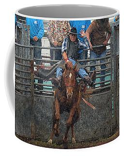 Coffee Mug featuring the photograph Rodeo Bronco by Lori Seaman