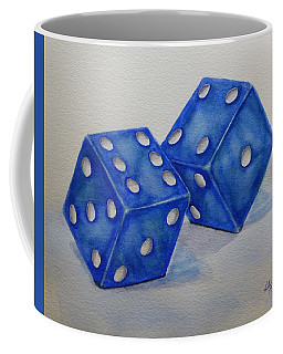 Coffee Mug featuring the painting Roll The Dice by Kelly Mills