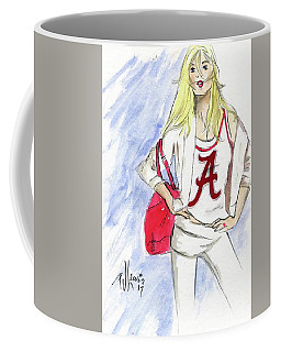 Coffee Mug featuring the painting Roll Tide by P J Lewis