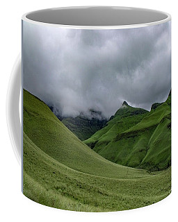 Coffee Mug featuring the photograph Rolling Green Drakensberg Mountains by Gaelyn Olmsted