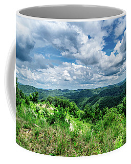 Rolling Hills And Puffy Clouds Coffee Mug