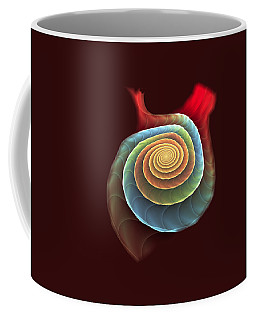 Coffee Mug featuring the digital art Rolling Spiral by Anastasiya Malakhova