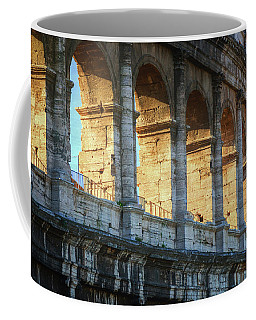 Coffee Mug featuring the photograph Roman Colosseum Painterly by Joan Carroll