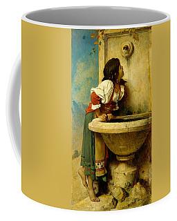 Roman Girl At A Fountain Coffee Mug