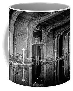 Roman Pool, Black And White Coffee Mug