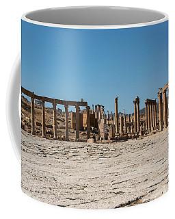 Coffee Mug featuring the photograph Roman Ruins At Ajloun by Mae Wertz