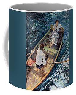 Dordogne , Beynac-et-cazenac , France ,romantic Boat Trip Coffee Mug