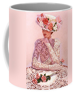 Coffee Mug featuring the painting Romantic Lady by Sue Halstenberg