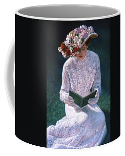 Coffee Mug featuring the painting Romantic Novel by Sue Halstenberg