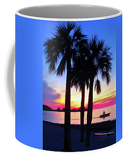 Coffee Mug featuring the photograph Romantic Skies Beach Sunset by Aimee L Maher Photography and Art Visit ALMGallerydotcom