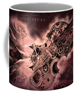 Romantic Stemapunk Violin Music Coffee Mug