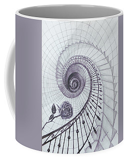 Coffee Mug featuring the drawing Romeo And Juliet by Elly Potamianos