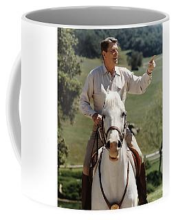 Ronald Reagan On Horseback  Coffee Mug