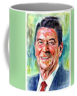 Ronald Reagan Watercolor Coffee Mug