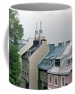 Coffee Mug featuring the photograph Rooftops by John Schneider
