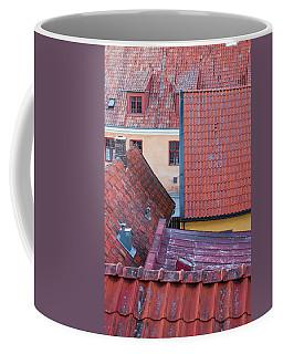 Rooftops Of The Swedish Town Visby Coffee Mug