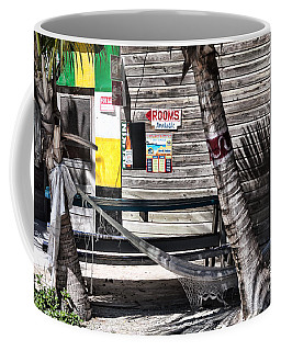 Coffee Mug featuring the photograph Rooms Available by Lawrence Burry