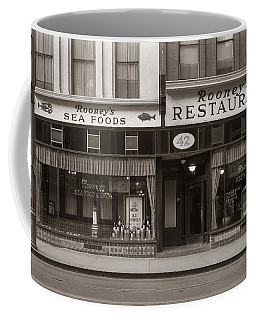 Rooney's Restaurant Wilkes Barre Pa 1940s Coffee Mug