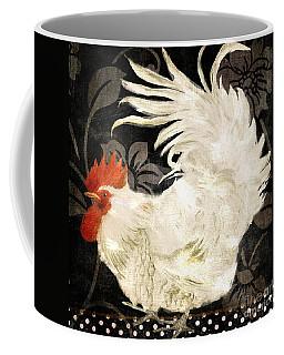 Rooster Damask Dark Coffee Mug