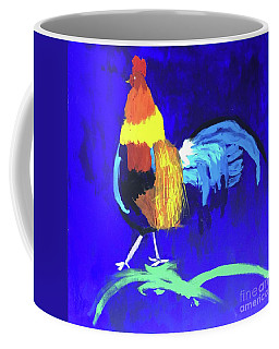 Coffee Mug featuring the painting Rooster by Donald J Ryker III