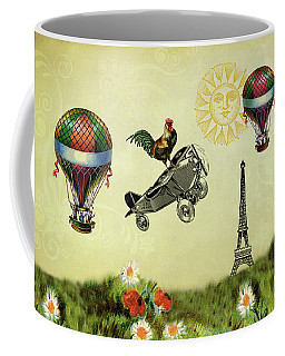 Rooster Flying High Coffee Mug