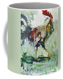 Rooster Painting Coffee Mug