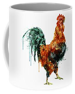 Rooster Watercolor Painting Coffee Mug