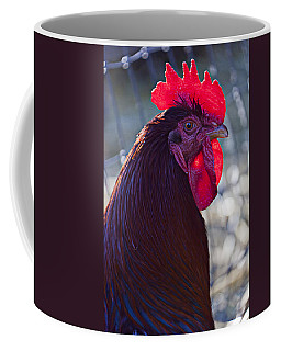 Rooster With Bright Red Comb Coffee Mug