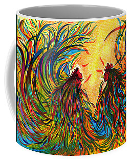 Roosters Frienship Coffee Mug by Fanny Diaz