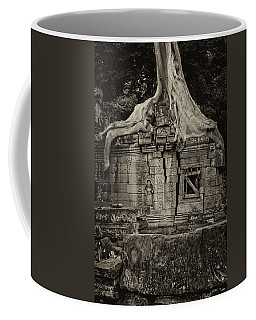 Coffee Mug featuring the photograph Roots In Ruins 5, Ta Prohm, 2014 by Hitendra SINKAR