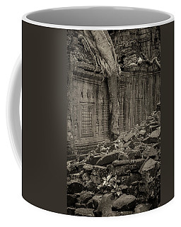 Coffee Mug featuring the photograph Roots In Ruins 6, Ta Prohm, 2014 by Hitendra SINKAR