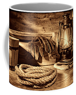Rope And Tools In A Barn Coffee Mug