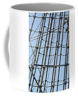 Coffee Mug featuring the photograph Rope Ladder by Dale Kincaid