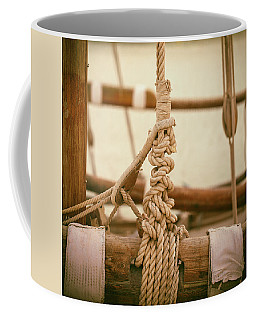 Ropes And Lashings On A Sailing Boat Coffee Mug