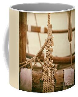 Ropes And Lashings On A Sailing Boat Coffee Mug