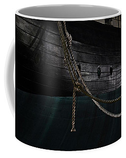 Ropes On The Uss Constellation Navy Ship Coffee Mug