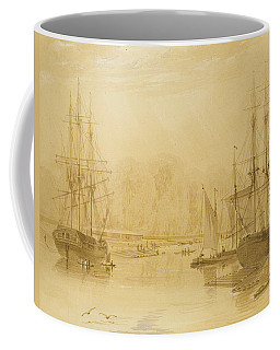 Ropewalk At Wapping, West Indiaman Union On Left, 1826  Coffee Mug