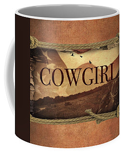 Roping Cowgirl Coffee Mug