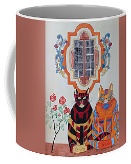 Rosa And Pedro Of The Rose Window Of Mission San Jose Coffee Mug