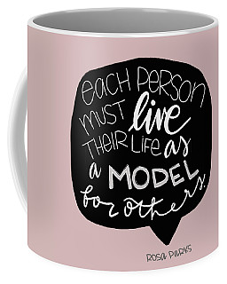 Coffee Mug featuring the mixed media Rosa Parks by Nancy Ingersoll