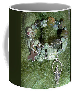 Coffee Mug featuring the jewelry Rosary Bracelet by Michele Myers