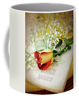 Rose And Bottle Coffee Mug by Larry Bishop