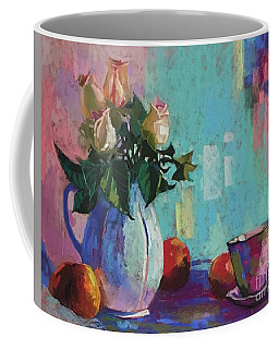 Rose And Peaches Still Life Coffee Mug